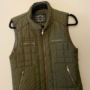 Army Green Chocolate Vest
